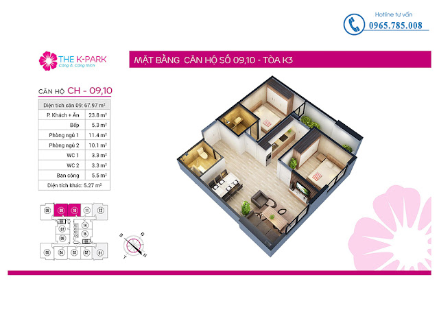 Thiết kế căn hộ 09 & 10