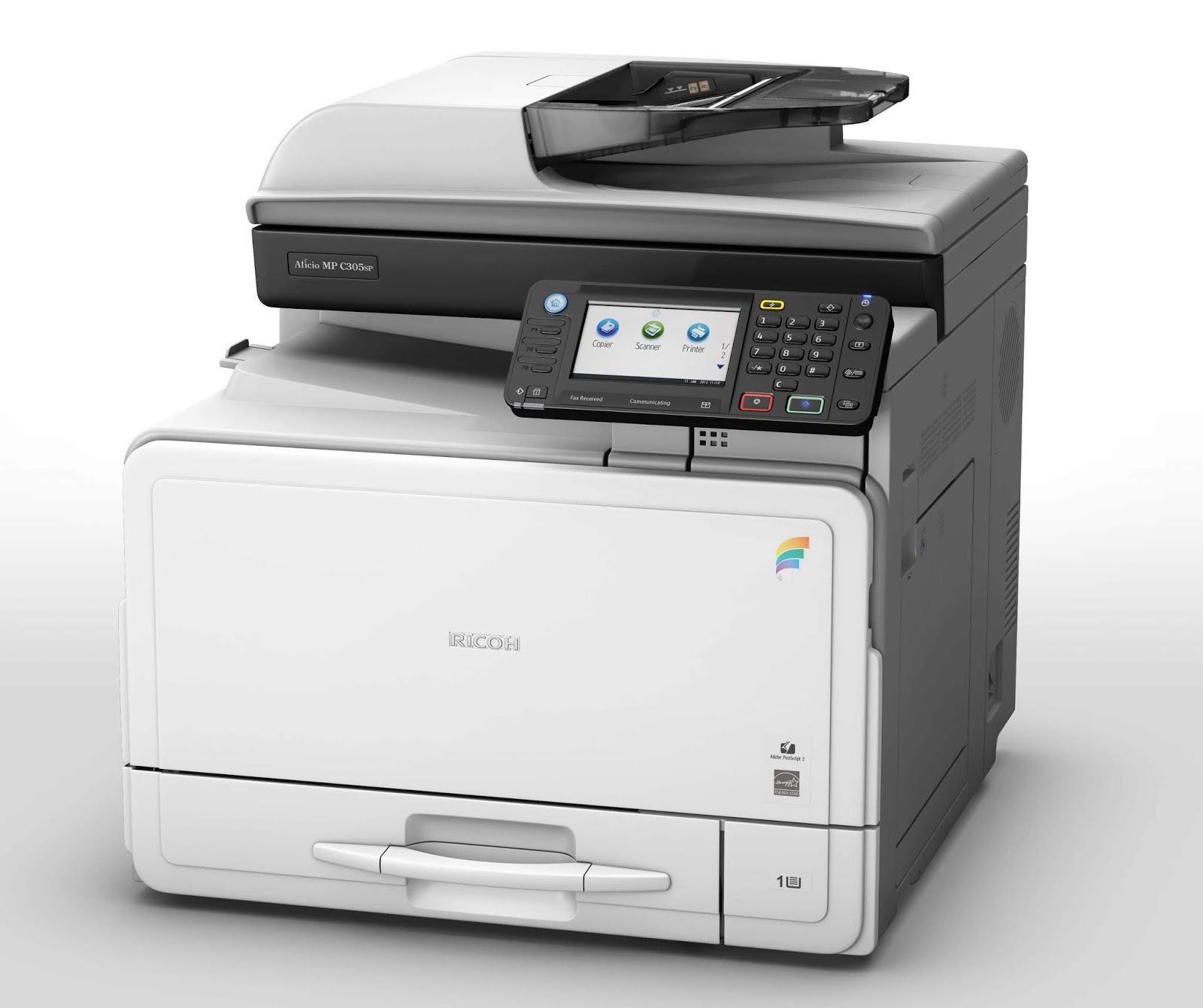 ricoh aficio mp 2851 printer driver windows 10