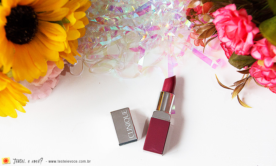 Batom Pop Lip Colour & Primer (Berry Pop) - Clinique