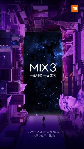 Xiaomi Mi Mix 3 Resmi Diluncurkan 25 Oktober