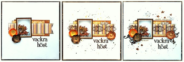 Vackra Höst Scrapbook Page by Ulrika Wandler using BoBunny Enchanted Harvest Collection