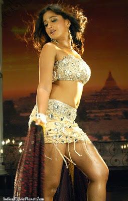 anushka shetty hot navel thigh show images