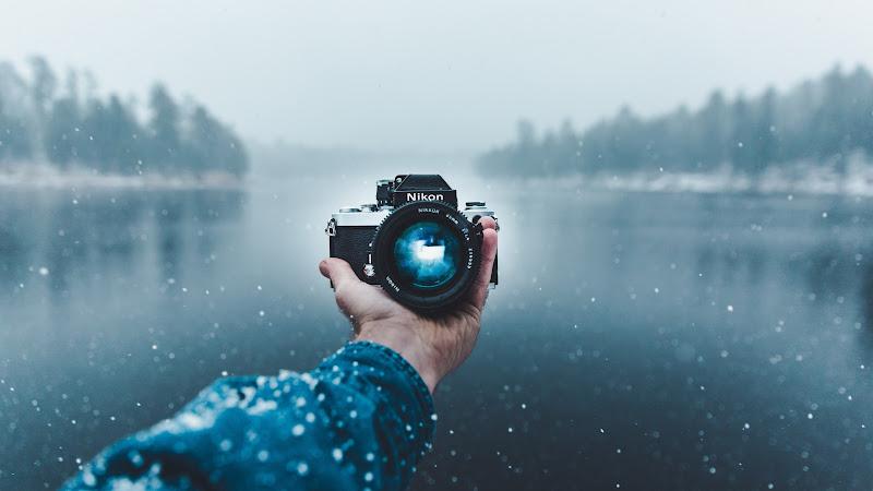 Selfie with Nikon Camera