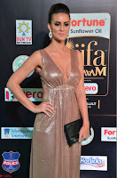 Lerisa Bonisa in a Sleeveless Deep neck Golden Gown ~  Exclusive 022.JPG