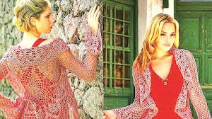 Sacón Calado Circular tejido a Crochet / Paso a paso