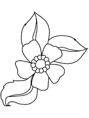 Gambar Mewarnai Bunga - 15