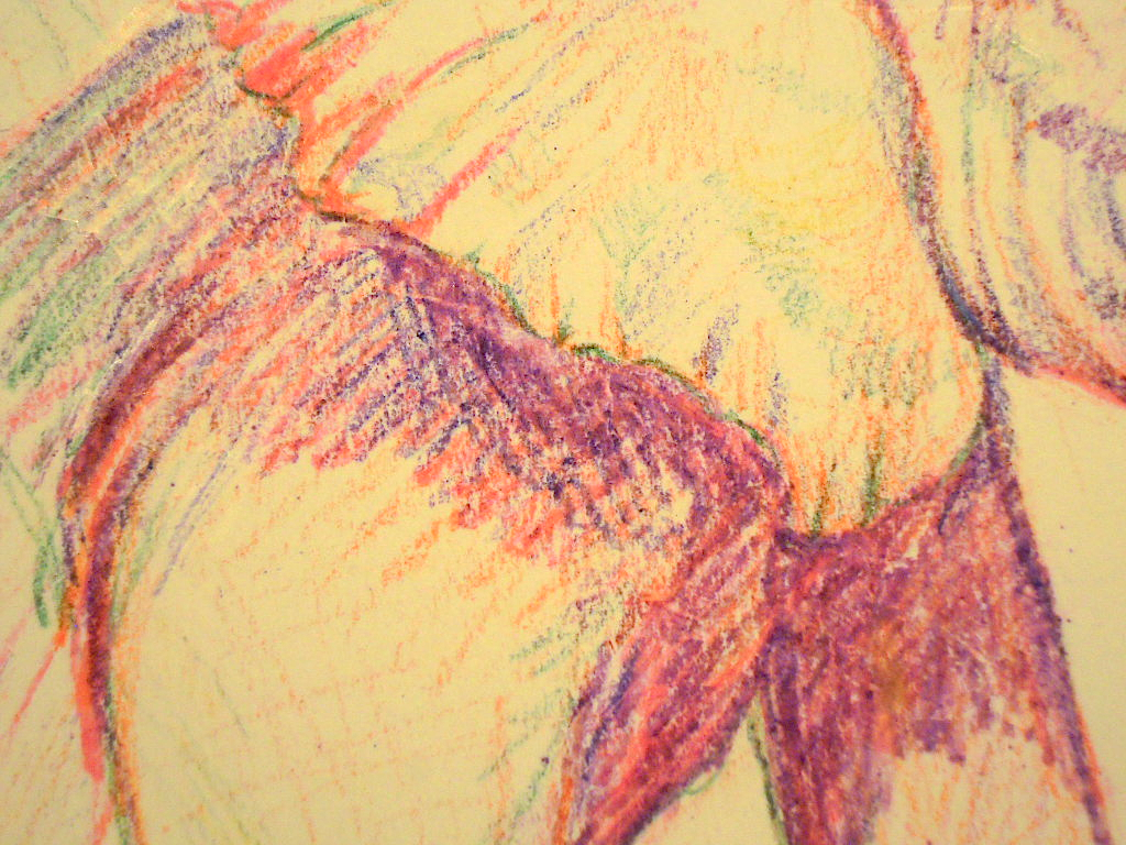 An Elephant a Day: Elephant No. 280: Crayon Drawing