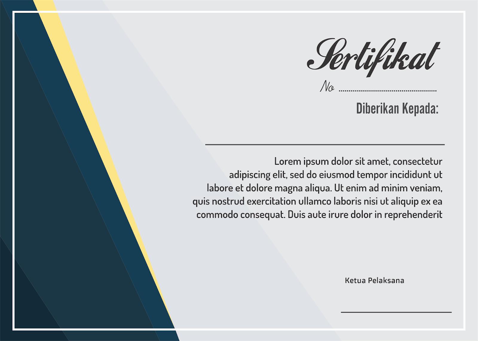 elegant simple template sertifikat cdr siap edit lembar bank clipart black & white bank clipart black & white