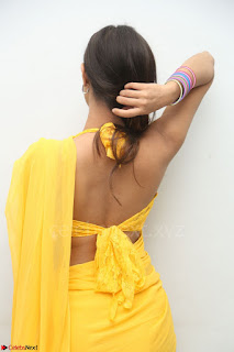 Nishigandha in Yellow backless Strapless Choli and Half Saree Spicy Pics 054.JPG