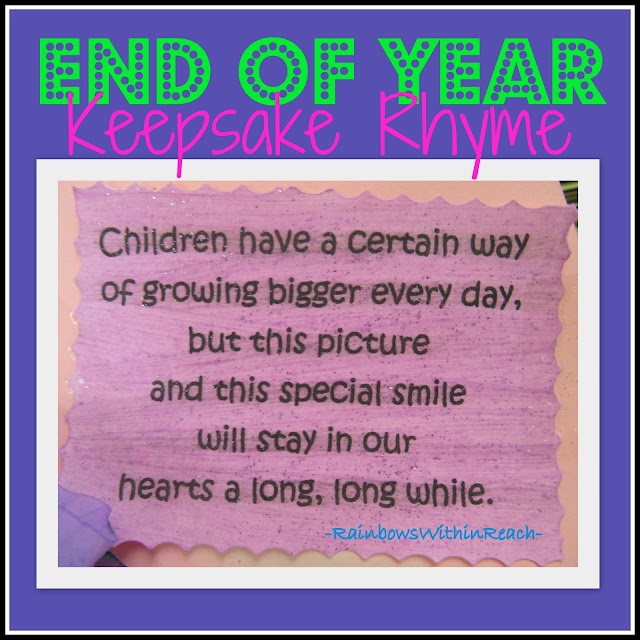 photo of: Children's handprint rhyme for grandparents day