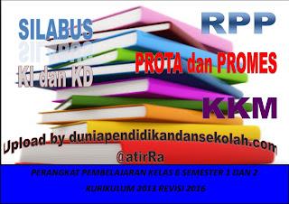 Download RPP Kelas 6 Kurikulum 2013 Revisi 2016 serta KD dan Ki dan Silabus