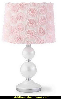 Baby Elise Grey and Pink Floral Lamp Base and Shade
