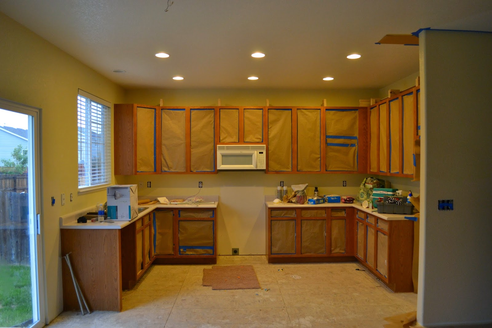 How To Paint Kitchen Cabinets Without Streaks Diy Kitchen Makeover My719moms