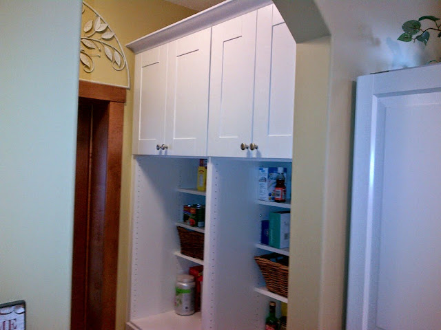 walk through kitchen storage