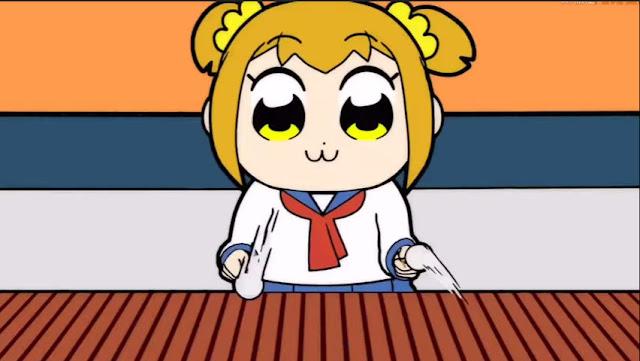 Popuko playing the Xylophone