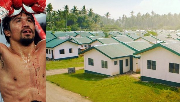 Popular Boxer, Manny Pacquiao Builds Houses For The Poor Nice Design