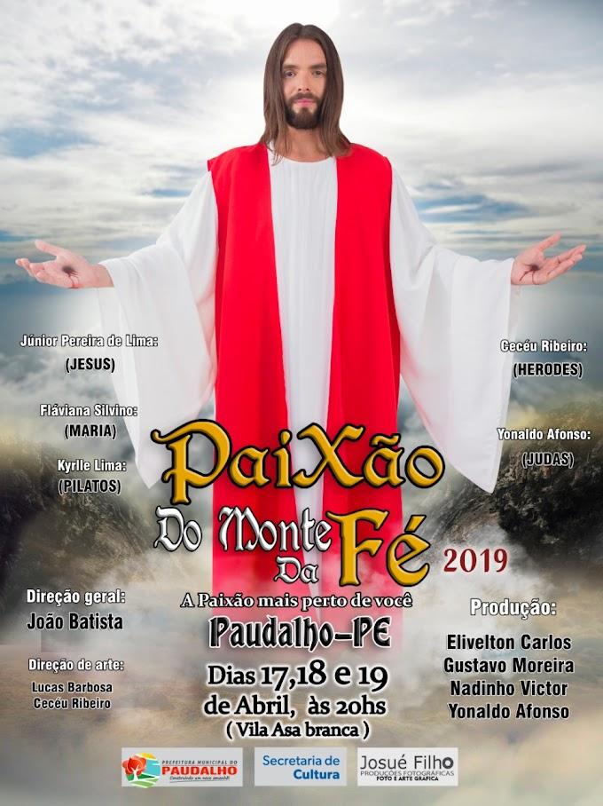 Com apoio da Prefeitura, Paixão de Cristo será apresentada no Monte da Fé, em Paudalho