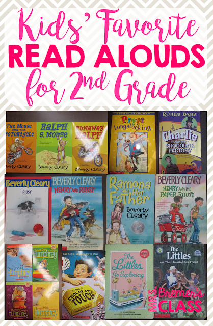 Kids Favorite Read Alouds in Second Grade