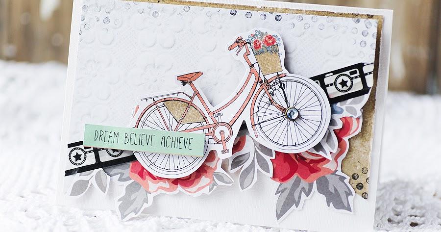 Открытка с велосипедом