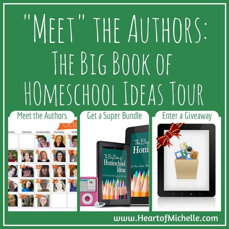 "Join the authors of The Big Book of Homeschool Ideas for a month-long ""meet the author"" tour that includes a sale and a giveaway."