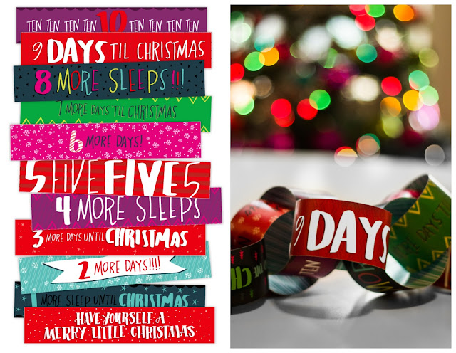 Paper Chain countdown to Christmas from the Caravan Shoppe