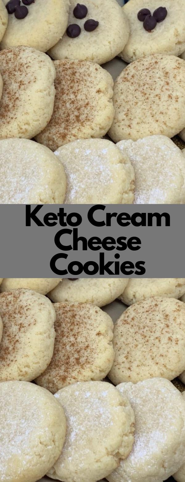 Keto Cream Cheese Cookies #keto #lowcarb #dessert #vegetarian #cookies