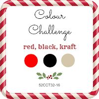 52CCT August colour challenge - red, black and kraft