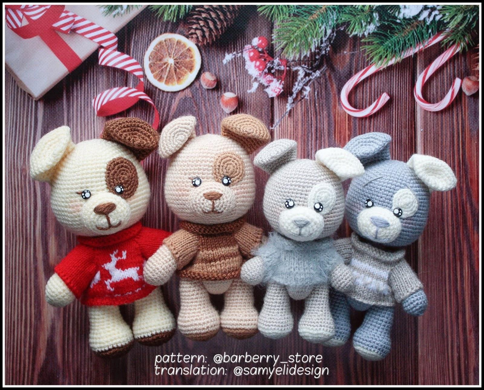 DIY Crochet Amigurumi Puppy Dog Stuffed Toy Free Patterns ... | 1290x1600
