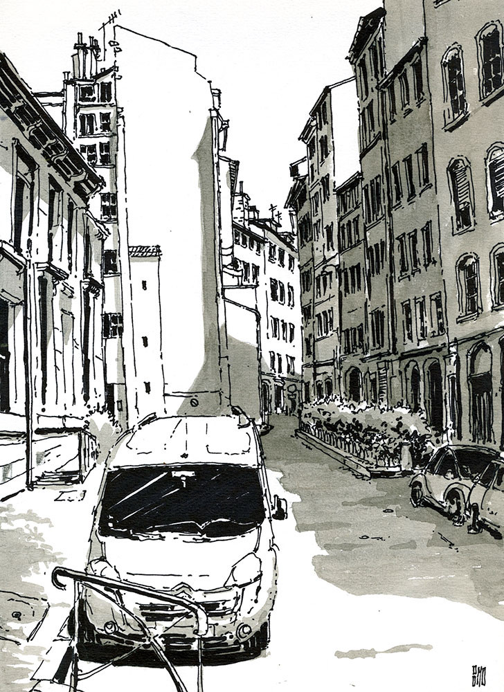 15-Rue-Sergent-Blandan-Lyon-France-Bruno-Mollière-Architectural-Street-Drawings-and-Sketches-www-designstack-co