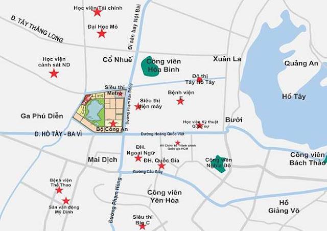 Vị trí chung cư An Bình City - Ngoại giao Đoàn