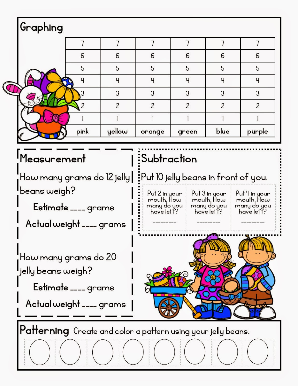 Lory S 2nd Grade Skills Jelly Bean Math