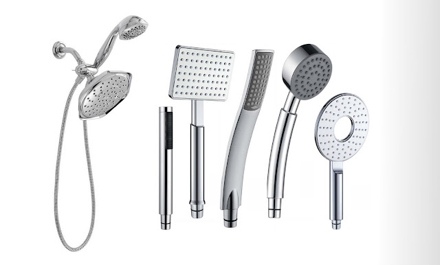 A Smart Shower on Metal Hand Held Shower Head