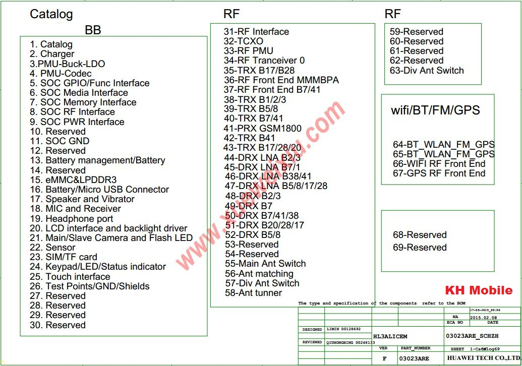 Huawei P8 Lite  Ale-tl00  Schematic  U0026 Layout Diagrams