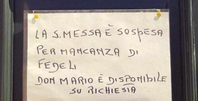 Missa suspensa por falta de fiéis em Veneza.
