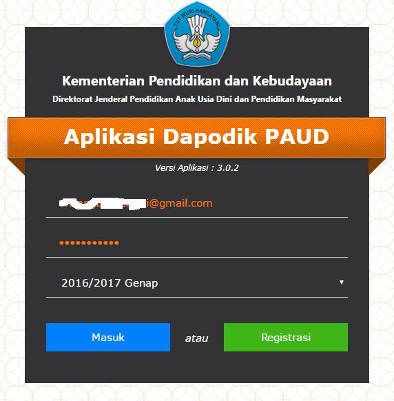 Aplikasi Dapodik PAUD 2017