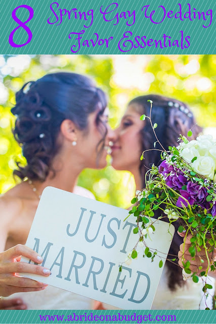 While you're planning your LGBT wedding, consider these 8 Spring Gay Wedding Favor Essentials put together by www.abrideonabudget.com in conjunction with LGBT-friendly Beau-Coup.com.