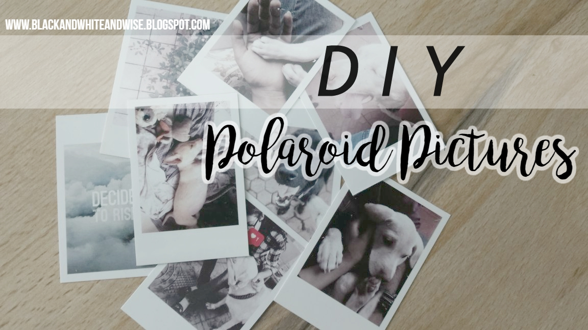 DIY polaroid pictures