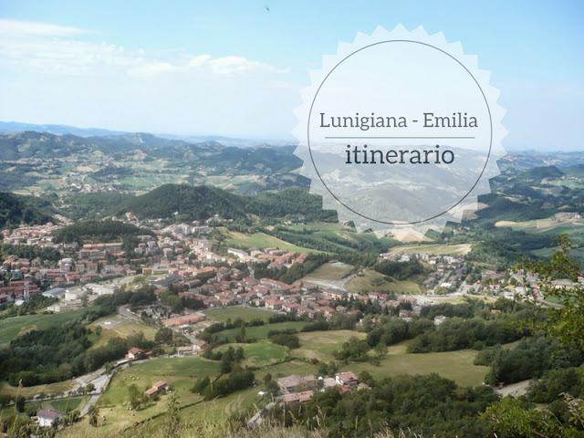 Itinerario di un giorno dalla Lunigiana all'Emilia. Veduta su castelnovo ne' monti