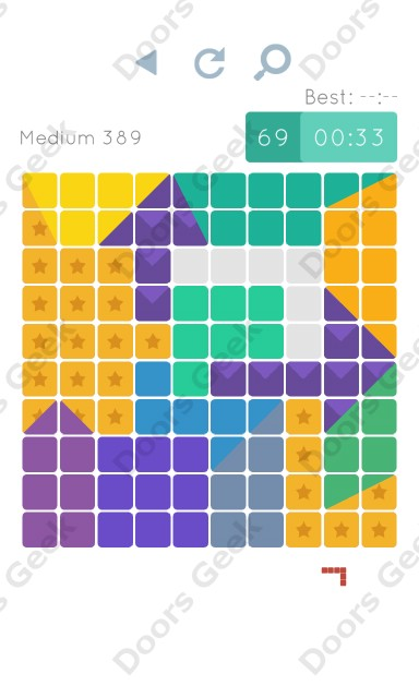 Cheats, Walkthrough for Blocks and Shapes Medium Level 389