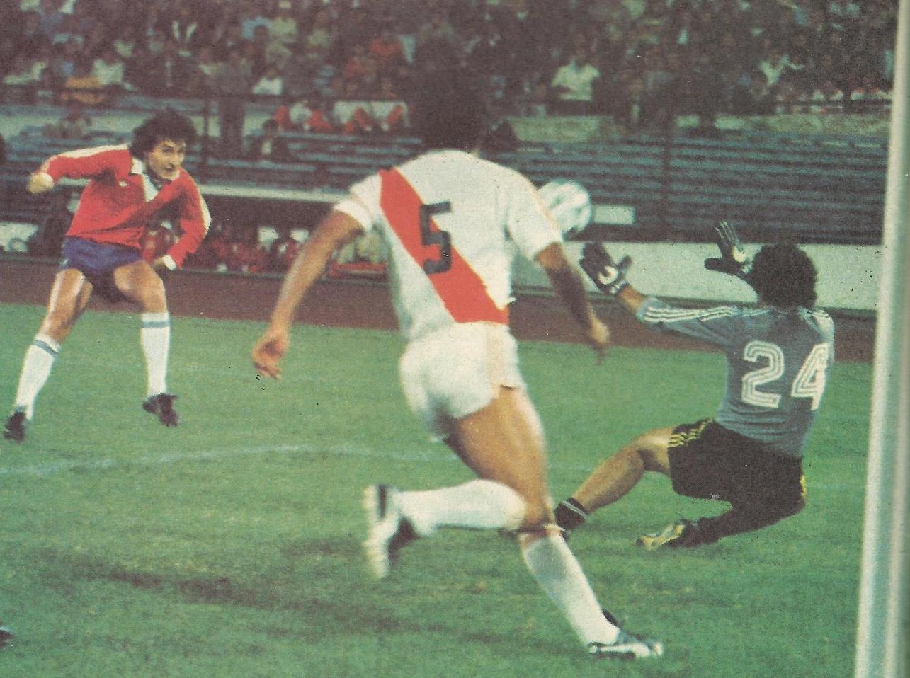 Chile y Perú en partido amistoso, 23 de marzo de 1982