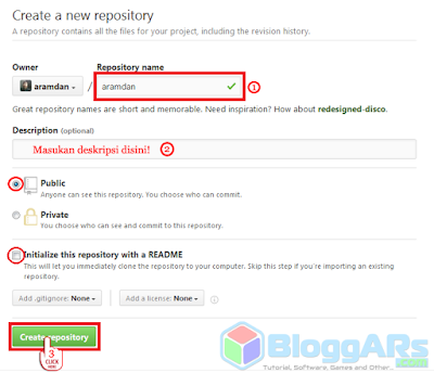 Membuat Repository baru di Github