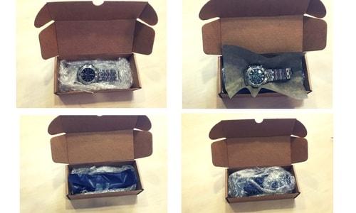 empaquetado de relojes en caja para envios