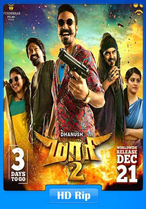 Maari 2 2018 720p HDRip Hindi Telugu ESub x264 | 480p 300MB | 100MB HEVC Poster