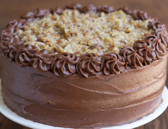 German Chocolate Cake #recipe #cakechoco