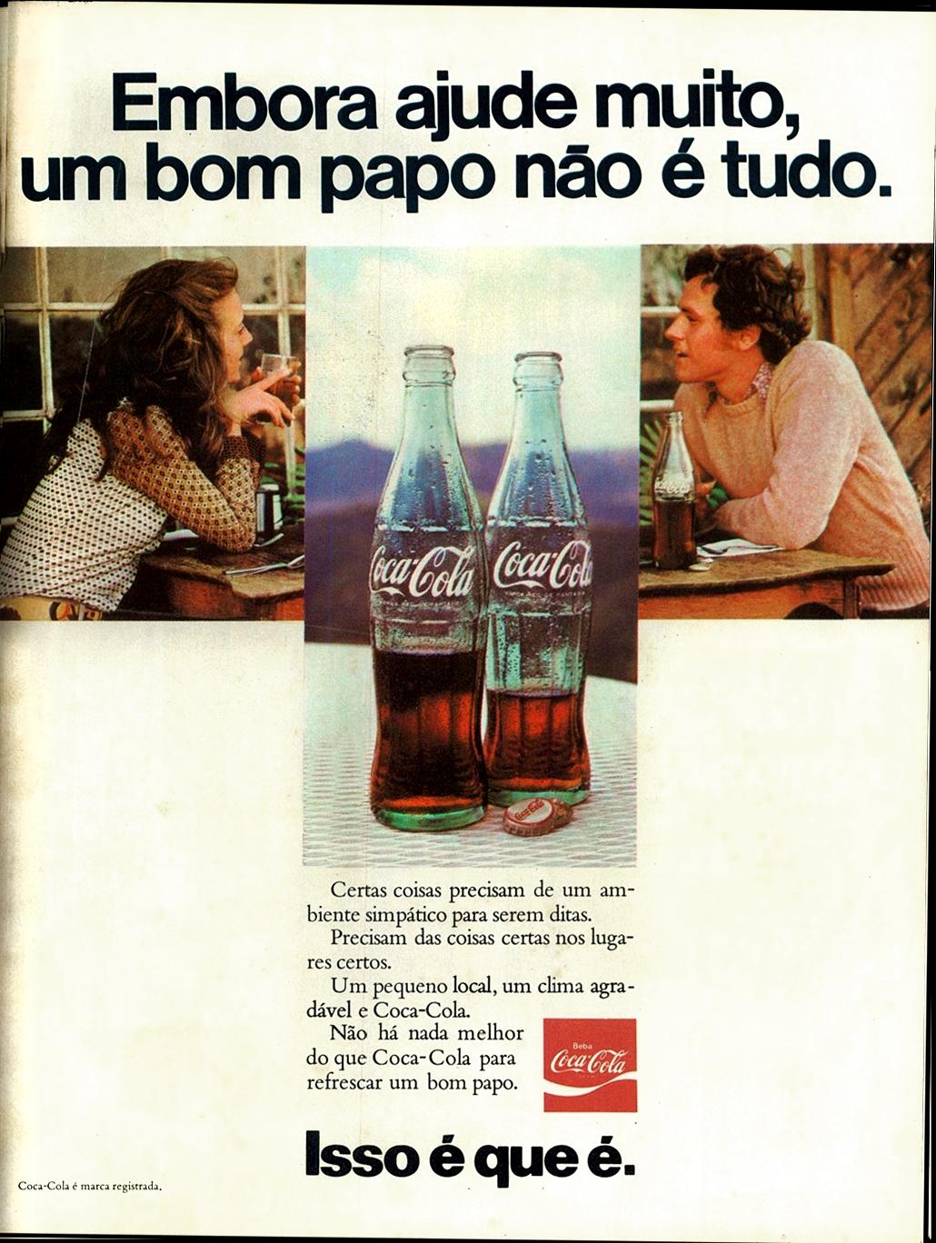 Propaganda antiga da Coca-Cola na década de 70
