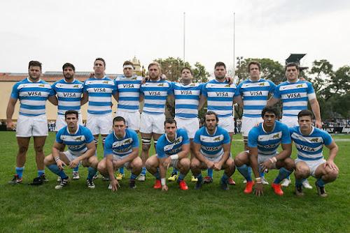 Plantel de Argentina XV  ante Toulon en Tucumán
