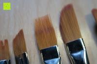 lang: Pinselset Ölmalpinsel - ZWOOS 12 Stk Nylonhaar Pinselset Ölmalpinsel Künstler Aquarell Acryl Ölmalerei Flachpinsel ,Schwarz