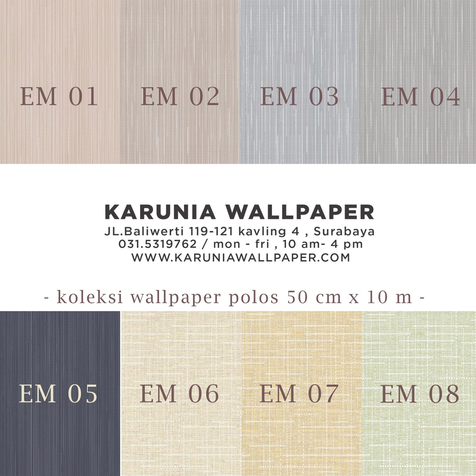 jual wallpaper simple polos karuniawallpaper surabaya toko wallpaper grosir murah