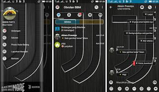 BBM Mod Juventus Black and more V3.3.1.24 Apk [BBM JJ Black and more Apk]