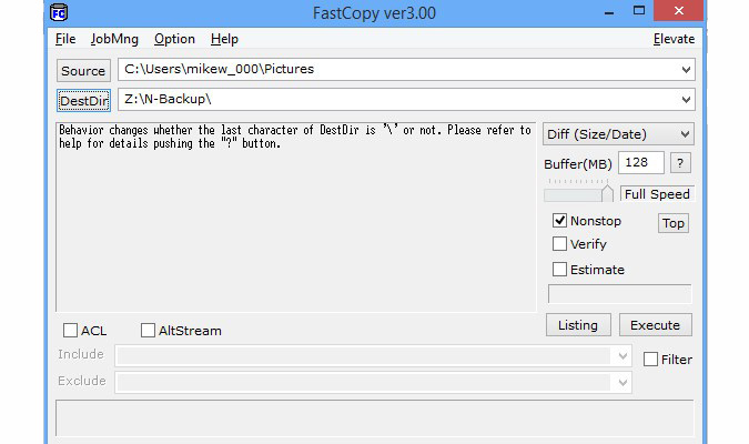 Alternatif TeraCopy - FastCopy